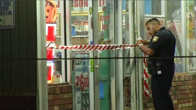 Convenience store employee says he was held up during robbery