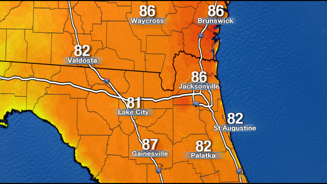 Soaring afternoon heat turns cool overnight for Jacksonville's weather forecast