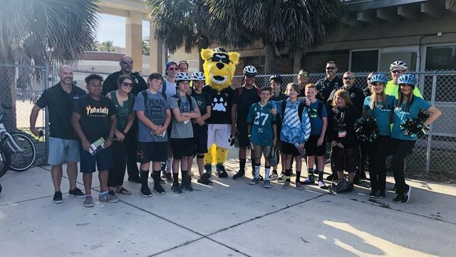 Jaguars, Alert Florida Today team up for Bike To School Day