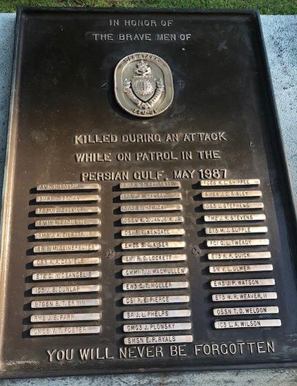USS Stark plaque