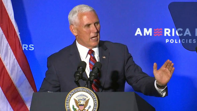 Pence touts benefits of new trade deal to Jacksonville crowd