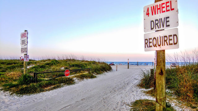 Sunbather run over on Fernandina beach