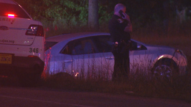 Pursuit of stolen car ends when deputy's cruiser hit