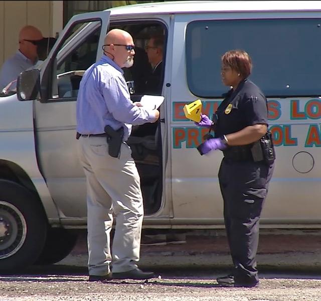 police investigate van