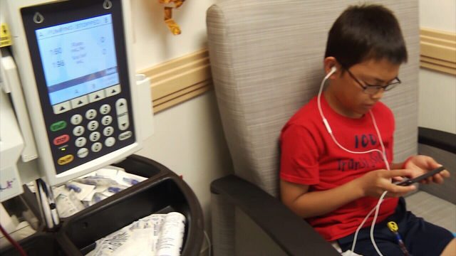 Jacksonville boy, 10, celebrates 100th blood transfusion