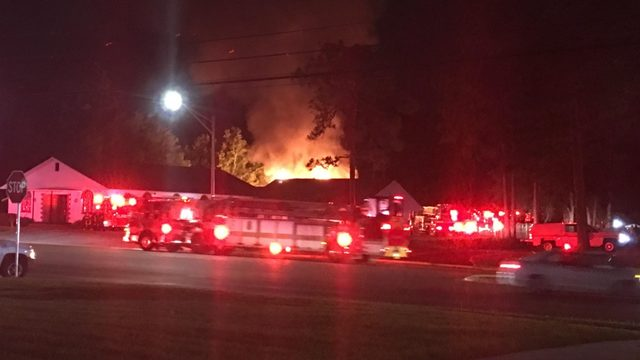 Fire sparked at Collins Road Baptist Church on Westside