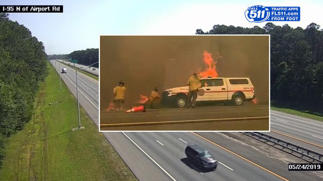 All I-95 lanes open again as firefighters continue to battle wildfire