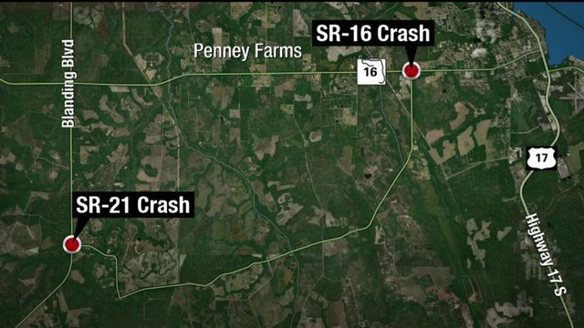 2 serious car crashes in Clay County&#x3b; 1 person dead
