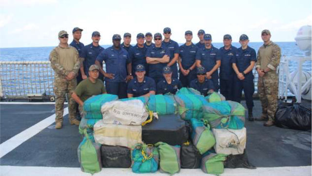 Jacksonville-based Coast Guard crew seizes $41M in cocaine
