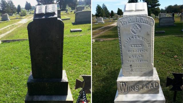 Jacksonville veteran cleans up fellow veterans' headstones