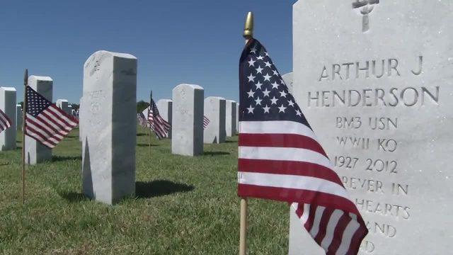 Jacksonville man spends off days cleaning veterans' headstones