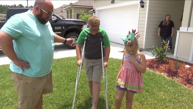 Boy bitten by rattlesnake credited with saving younger sister