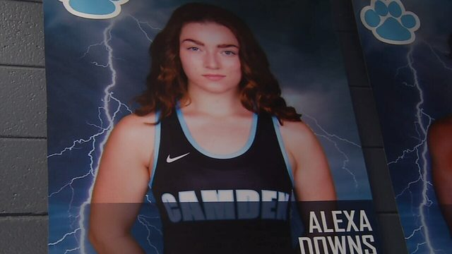 Alexa Downs Wrestling For Recognition at Camden County HS