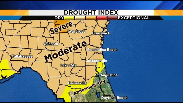 Northeast Florida drought levels upgraded to 'moderate' category