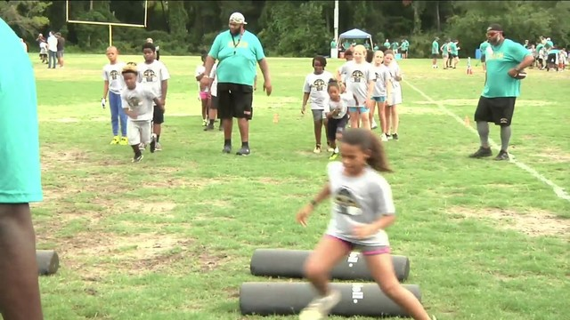 Jacksonville PAL begins summer football camps with special guest
