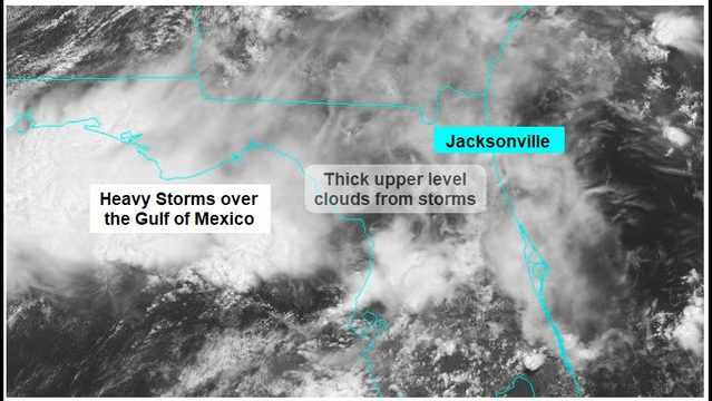 Weekend storms forecast being dashed by too many clouds
