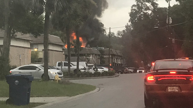 House fire deemed suspicious displaces children, adults, dog
