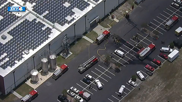 Firefighters respond to incident at battery manufacturing plant