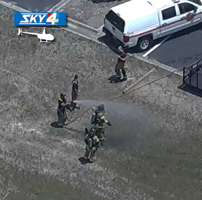 JFRD decontamination aerial