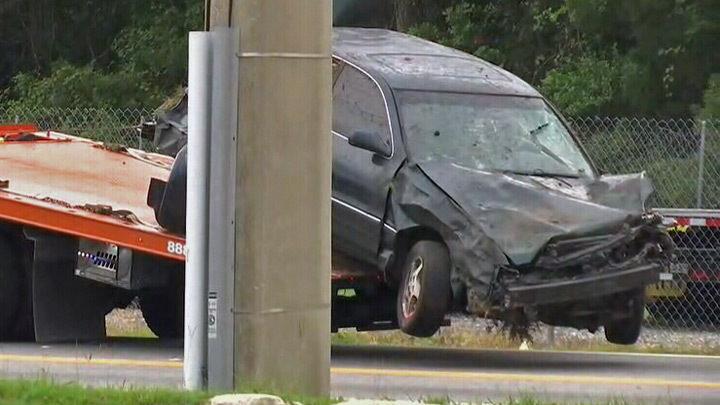 2 seriously injured after police chase ends in Westside crash