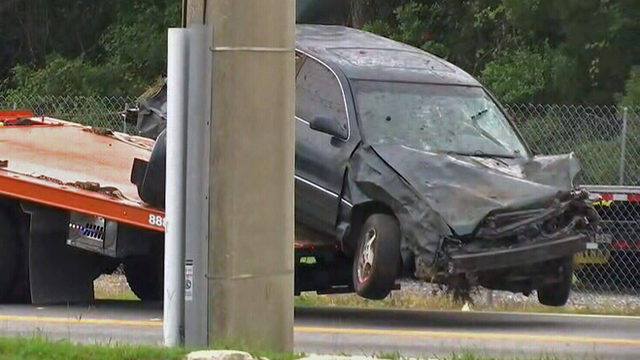 2 seriously injured after police chase ends in Westside crash