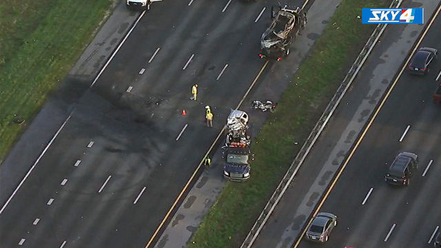 FHP: Deadly crash shuts down I-95 at Old St. Augustine Road