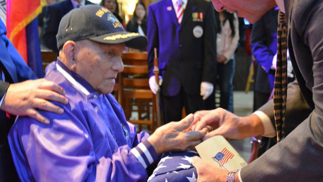 Family, friends gather to remember WWII hero