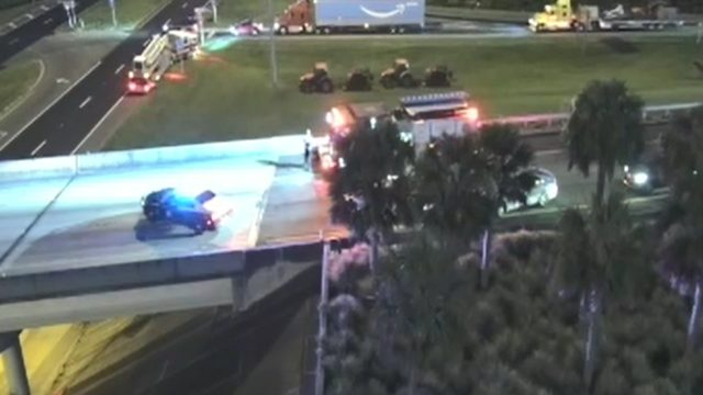 1 injured in crash involving pedestrian on I-295 at Lem Turner Road