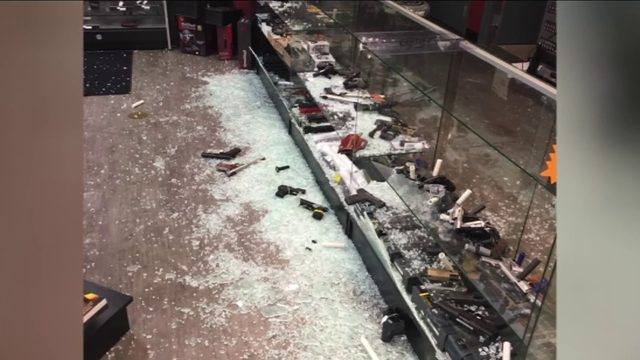 Smash-and-grab burglars hit gun store in St. Augustine
