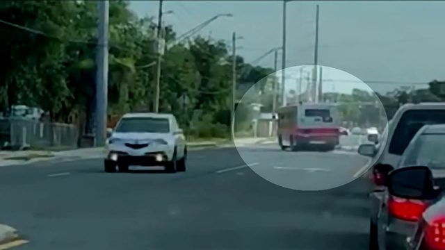Video appears to show JTA bus driving into oncoming traffic