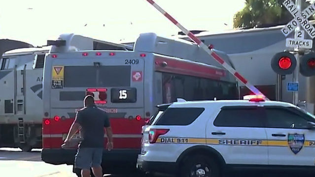 Passengers aboard JTA bus to 911: 'We got hit by a train'
