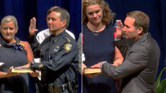 Mayor Curry, Sheriff Williams take oaths, talk about plans for second terms