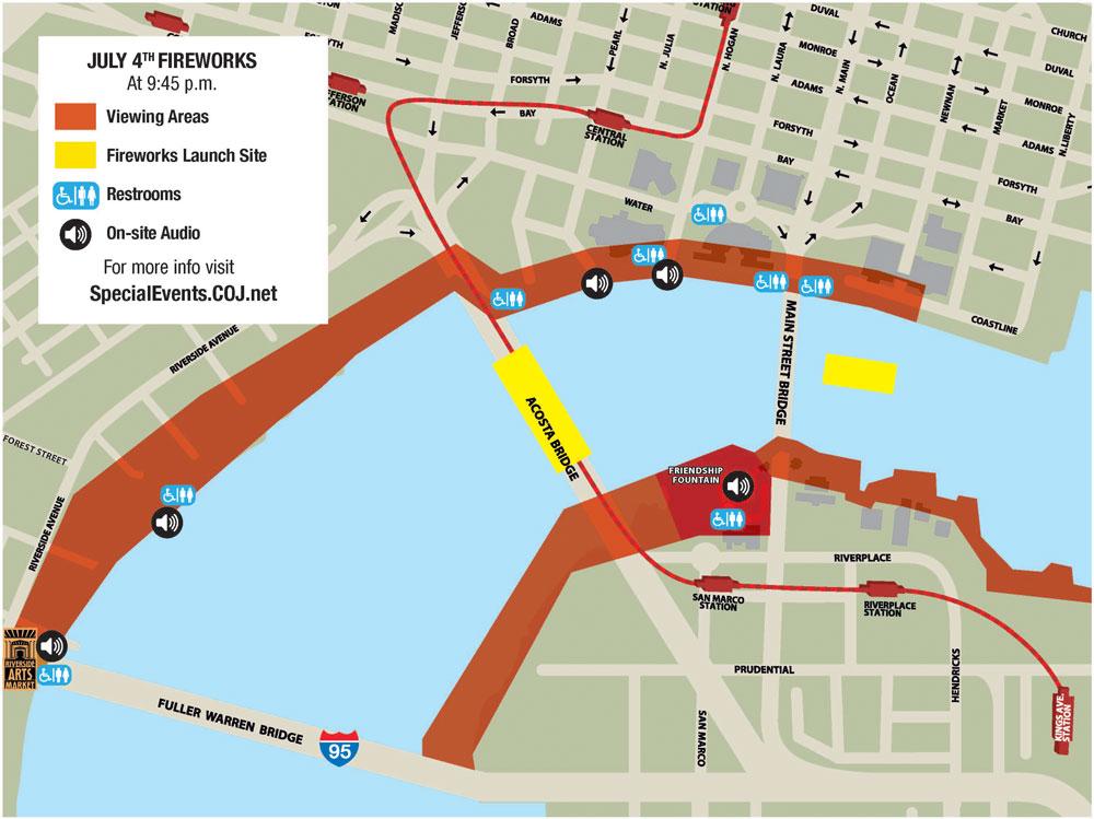 COJ fireworks viewing map