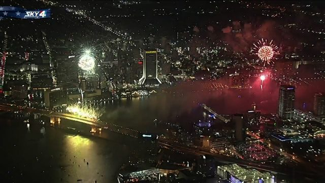 WATCH: 4th of July fireworks light the downtown sky