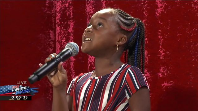 Watch 9-year-old Amara Powell perform the national anthem