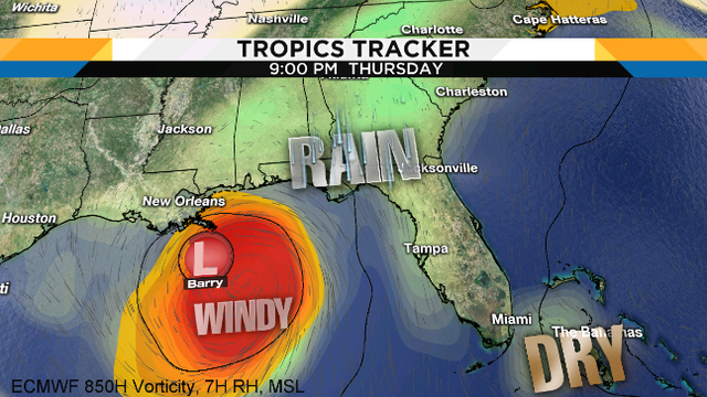 Tropical storm could end Jacksonville's wet spell