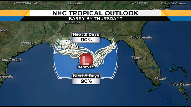 Next tropical system is drifting south into the Gulf