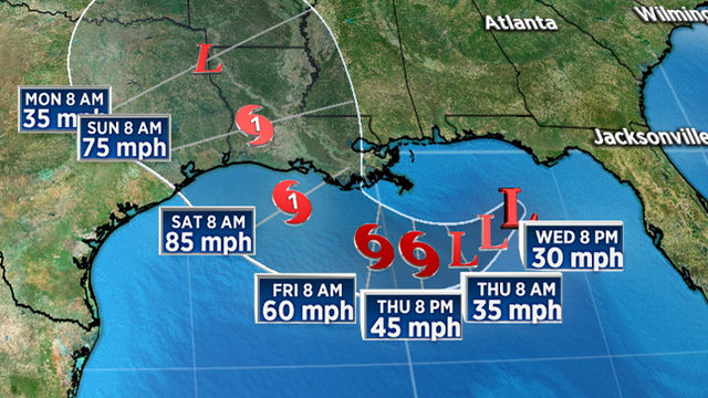 System drifting in Gulf to grow into hurricane by weekend