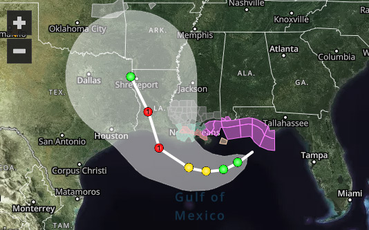 Interactive hurricane tracking map