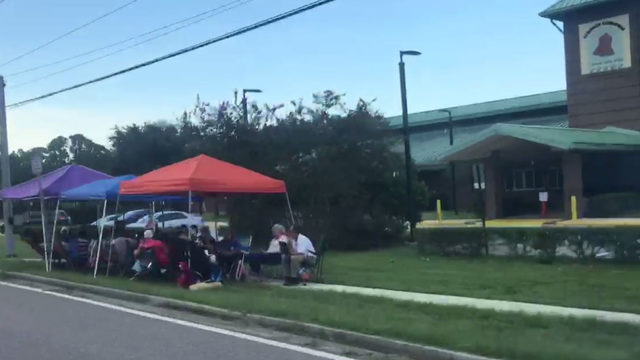 Parents camp out ahead of Extended Day Program registration