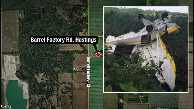 2 injured in single-engine airplane crash in Hastings