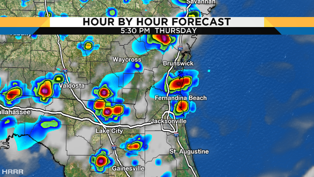 Storms firing up later this afternoon, muggy evening expected