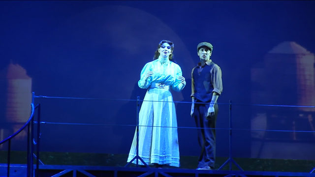 Students get ready to perform songs from Disney's 'Newsies' live