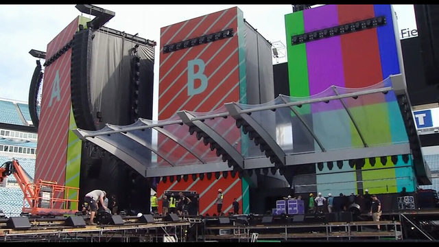 Rolling Stones in Jacksonville; stadium being transformed into concert venue