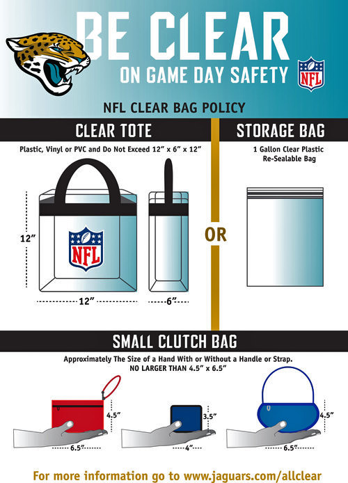 Jaguars clear bag policy
