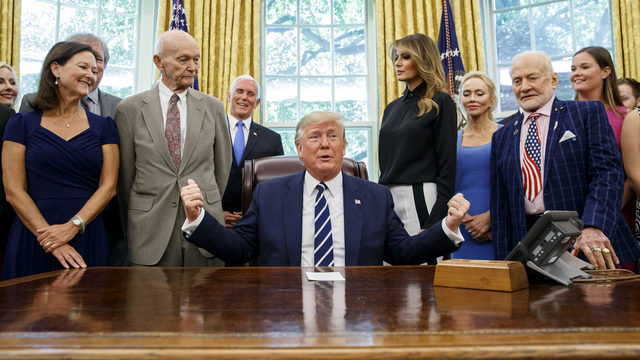 President Trump marks Apollo 11 anniversary by meeting its astronauts