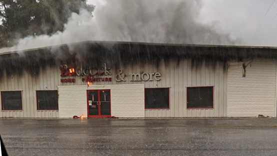 Folkston Badcock furniture catches fire after lightning strike