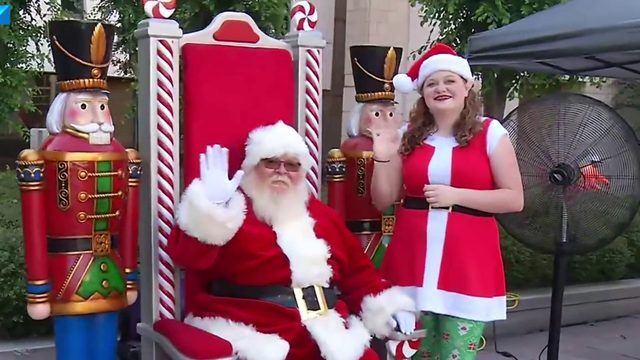 Santa stops by Wolfson Children's Hospital for Christmas in July