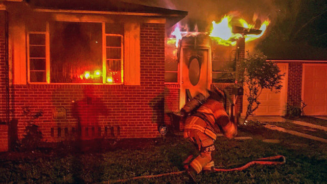 Fire erupts at home in Arlington early Saturday morning