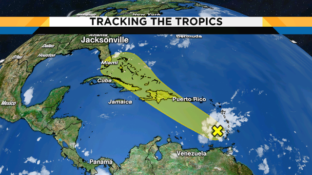 National Hurricane Center watching tropical wave in Caribbean Sea